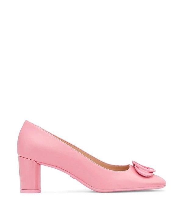 ANICIA 60 几何双扣中跟鞋 粉色