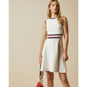 Ted BakerAPRYLL Knitted sleeveless skater dress