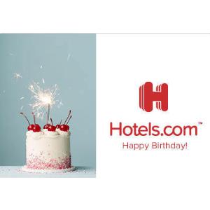 满$50送$10Hotels.com 官方电子礼品卡促销