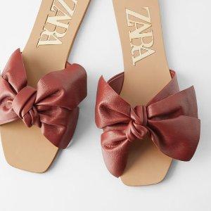 网红珍珠乐福鞋€19ZARA 断货王经典凉鞋专场 秒变夏日街上最靓的仙女