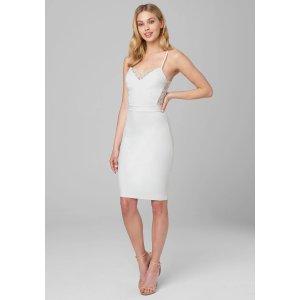 BebeLace Back Knit Dress