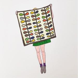 $9.99(原价$52.73)王妃最爱Orla Kiely 花园手套促销 永恒缤纷的色彩