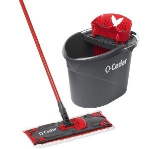 $25.49 包邮闪购:O-Cedar UltraMAX 微纤维平面拖把+清洁水桶套装