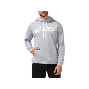 AsicsMen's M ESSENTIAL FRENCH TERRY HOODIE   Sheet Rock/Brilliant White   Hoodies & Sweatshirts   ASICS