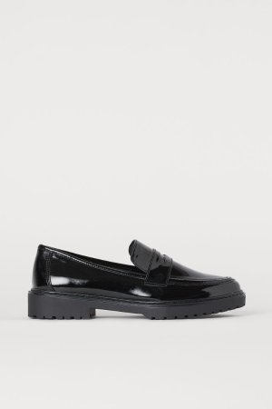 Patent Loafers - Black - Ladies   H&M US