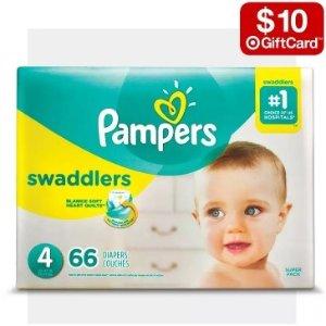 买2件送$10礼卡Target 精选婴儿用品尿不湿 热卖