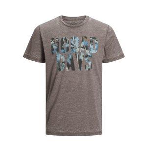 JackJones灰色印花T恤