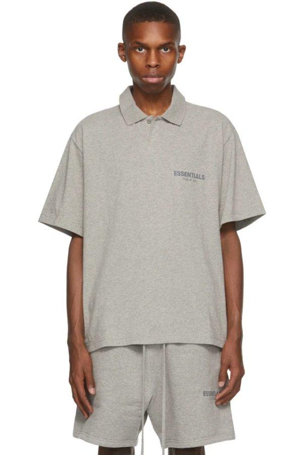 Grey Logo Polo衫