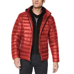 Calvin Klein Men's Packable Down Hooded Coat