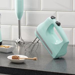 $49.98包邮(原价$79)KitchenAid 五速手持搅拌器 粉色补货 完美奶酪糊、蛋白糊