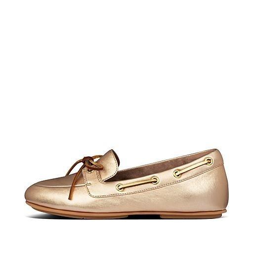 玫瑰金平底鞋