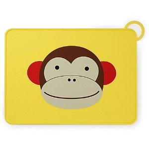 SKIP*HOP® Zoo Reusable Monkey Fold & Go Silicone Placemat - Bed Bath & Beyond