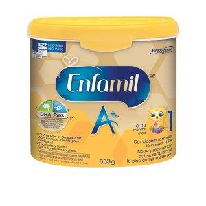 $26.57(原价$32.99)美赞臣Enfamil A+一段婴儿配方奶粉