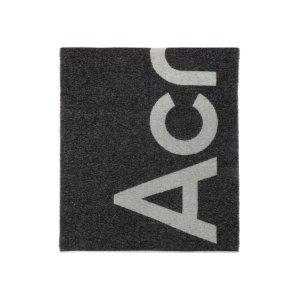 Acne StudiosBlack Logo双面围巾