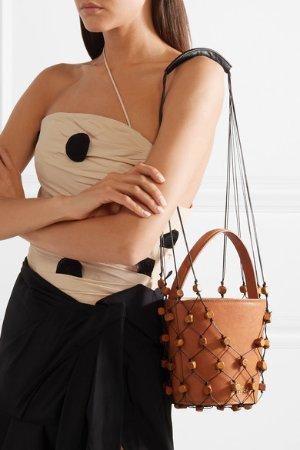Jacquemus | Maracasau convertible leather and macramé shoulder bag
