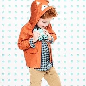 75折搞定秋季出行开学季:Carter's 秋季防风夹克外套 雨靴 奇趣系列上线