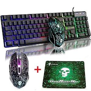 MeiYing T6 彩虹RGB机械键盘+鼠标+鼠标垫套装