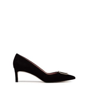 Pedder Red水晶方扣鞋 黑色