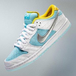 7月28日发售 定价€109.99FTC x Nike SB Dunk Low 最新配色来啦 蓝白皮革+日式泡「汤」