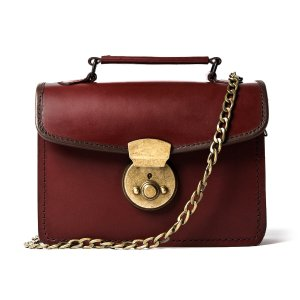 Beara BearaSmall Vintage Brown Leather Handbag by Beara Beara