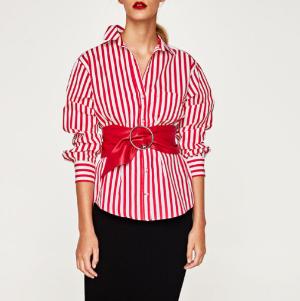 Zara 红色条纹衬衫