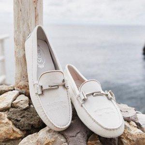 低至6折 收封面同款Tod's 优雅简洁的极致奢华豆豆鞋、美包热卖