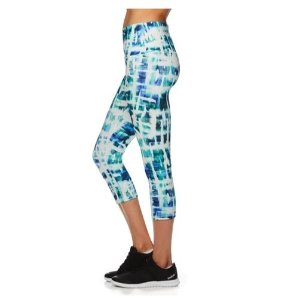$11.75Reebok Women's Printed Highrise Capri Lyre Leggings