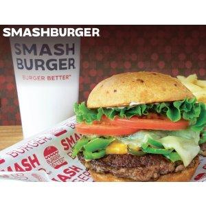 套餐买1送1Smashburger餐馆店内促销