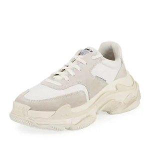 BalenciagaMen's Triple S Nylon Sneakers