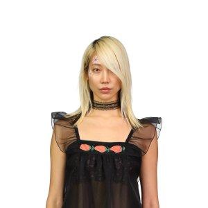 Anna SuiFloral Ribbon Choker in Black
