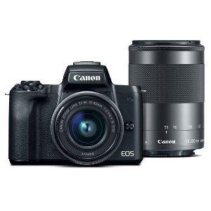 Refurbished EOS M50 EF-M 15-45mm f/3.5-6.3 & 55-200mm f/3.5-6.3 IS STM Bundle Black