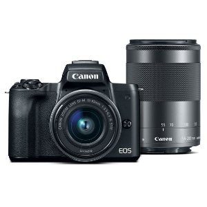 Refurbished EOS M50 EF-M 15-45mm f/3.5-6.3 & 55-200mm f/3.5-6.3 IS STM Bundle Black
