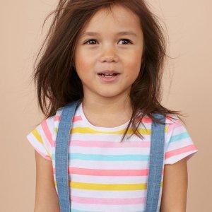 满$60享8折+包邮H&M 儿童 Conscious 环保系列服饰热卖