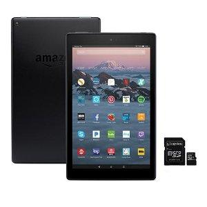 Amazon Fire HD 10 32GB + 32GB microSD Card + Case