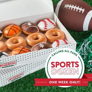 Original Glazed Dozen $5Krispy Kreme Limited Edition Sports Dozen Now Available