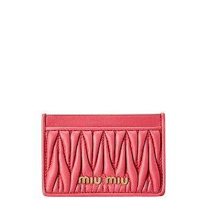 Miu MiuMatelasse Leather Card Holder