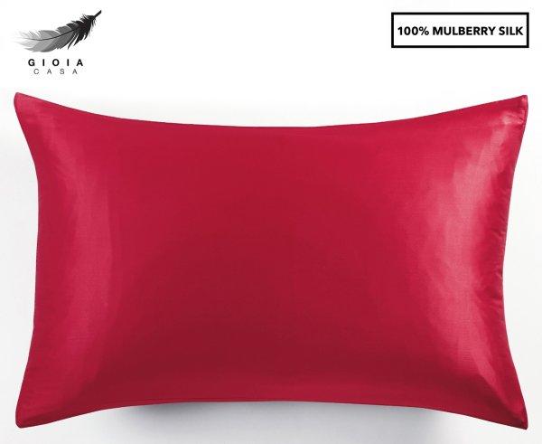 100%桑蚕丝枕套 红色