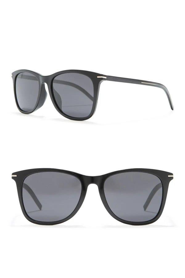 Black Tie 55mm Rectangle Sunglasses