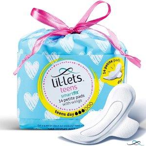 低至£1/包!Lil-lets 高颜值舒适卫生巾 棉柔表层 多款选择 敏感肌必备