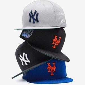 2.8折起 £5入帽子New Era  渔夫帽、NY棒球帽、服饰 明星同款好价收