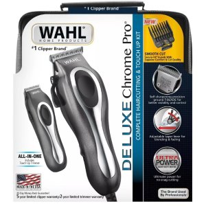 $34.99Wahl Deluxe Chrome Pro Complete Men's Haircut Kit With Finishing Trimmer & Soft Storage Case