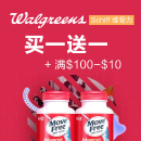 Buy 1 Get 1 Free + Get $10 off Select Schiff Move Free products @ Walgreens