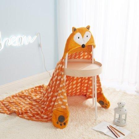 狐狸造型连帽巾