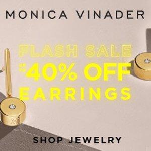 低至6折 $52起 收超值套装黑五开抢:Monica Vinader 每日闪购 精致耳饰热卖