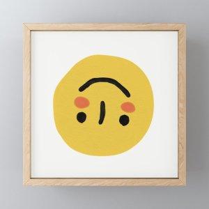Society6Turn that Smile Framed Mini Art Print by lilyhong