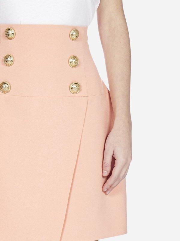 Buttoned viscose 半身裙