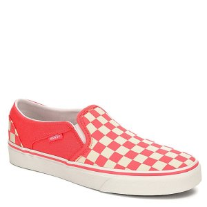 PINK VANS Womens Asher Slip-on