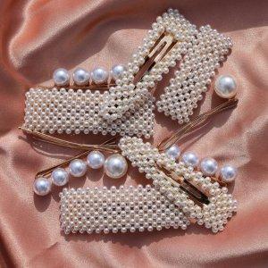 无门槛7.5折 珍珠发夹£11入11.11独家:Astrid & Miyu 全场超美首饰、配饰热卖中 轻松打造泫雅风