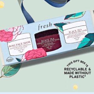 6.7折起,£19收玫瑰套装fresh官网地球日热促,玫瑰、红茶套装现在买超值!