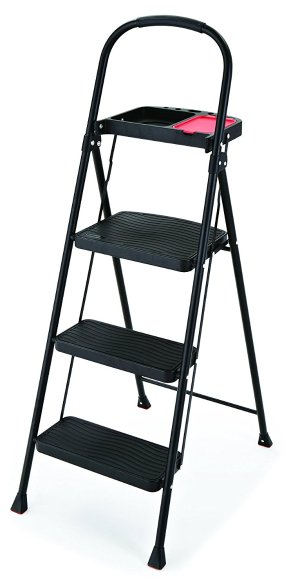 $24Rubbermaid RMS-3T 3-Step Steel Step Stool with Project Tray, 225-pound Capacity